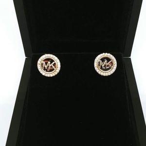MK gold tortoise/ tigers eye earrings